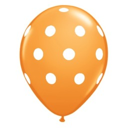 Luftballons Orange, Polka Dots