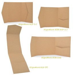 Pocketfolds aus Kraftpapier