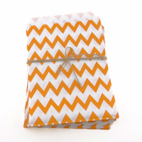 Candy-Papiertüten, Orange (Chevron-Muster)