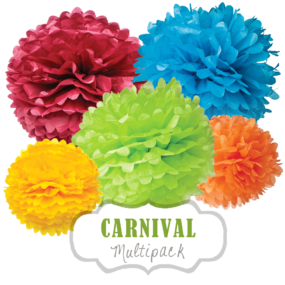 "Pom Poms Set ""Carnival"" by nillie"