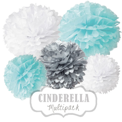 "Pom Poms Set ""Cinderella"" by nillie"