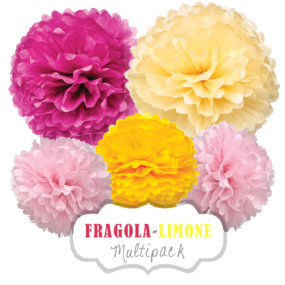 PomPoms-Set Fragola-Limone