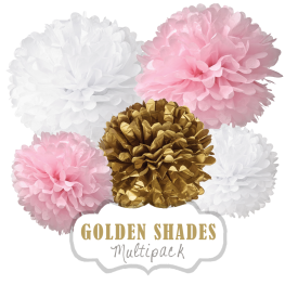 "Pom Poms Set ""Golden Shades"" by nillie"