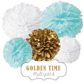 "Pom Poms Set ""Golden Time"" by nillie"