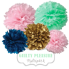 "Pom Poms Set ""Guilty Pleasure"" by nillie"