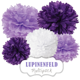 "Pom Poms Set ""Lupinenfeld"" by nillie"