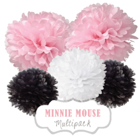 "Pom Poms Set ""Minnie Mouse"" by nillie"