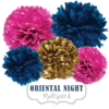 "Pom Poms Set ""Oriental Night"" by nillie"