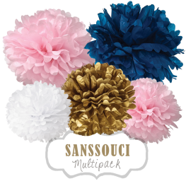 "Pom Poms Set ""Sanssouci"" by nillie"