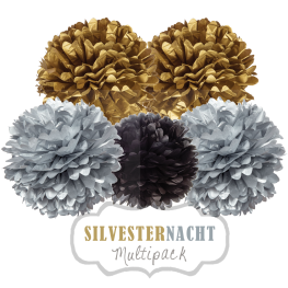 "Pom Poms Set ""Silvester"" by nillie"