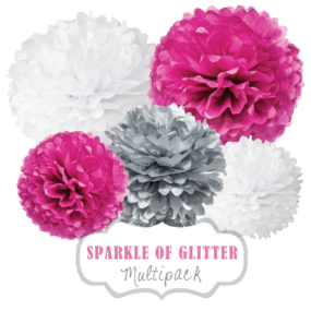 "Pom Poms Set ""Sparkle of Glitter"" by nillie"