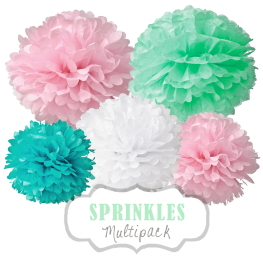 "Pom Poms Set ""Sprinkles"" by nillie"