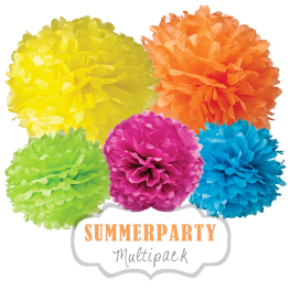 """Pom Poms Set """"Summerparty"""" by nillie"""