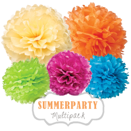 "Pom Poms Set ""Summerparty"" by nillie"