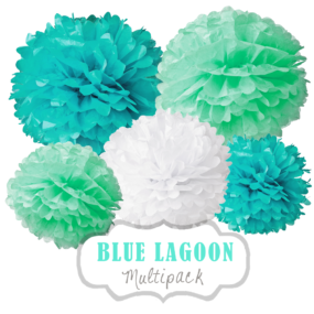 "Pom Poms Set ""Blue Lagoon"" by nillie"