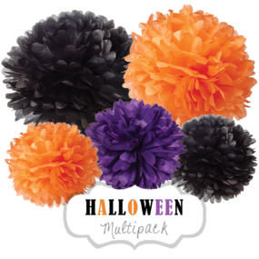 "Pom Poms Set ""Halloween"" by nillie"