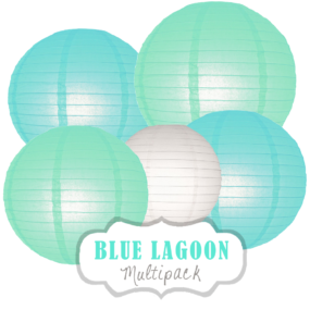 "Lampions-Set ""Blue Lagoon"" by nillie"