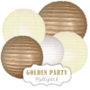 """Lampions-Set """"Golden Party"""" by nillie"""