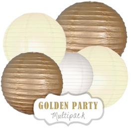 "Lampions-Set ""Golden Party"" by nillie"