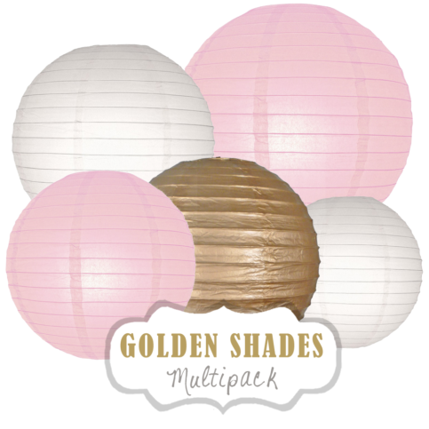 "Lampions-Set ""Golden Shades"" by nillie"