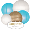 "Lampions-Set ""Golden Time"" by nillie"