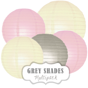 "Lampions-Set ""Grey Shades"" by nillie"