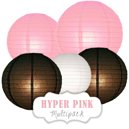 "Lampions-Set ""Hyper Pink"" by nillie"