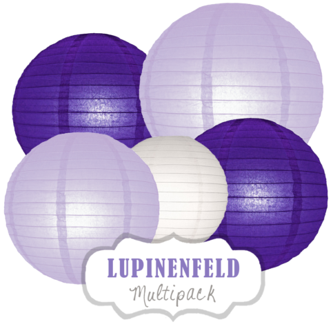 """Lampions-Set """"Lupinenfeld"""" by nillie"""