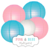 "Lampions-Set ""Pink & Blue"" by nillie"