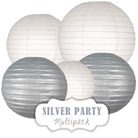 "Lampions-Set ""Silver Party"" by nillie"