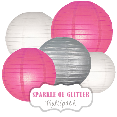"""Lampions-Set """"Sparkle of Glitter"""" by nillie"""