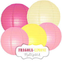 """Lampions-Set """"Fragola-Limone"""" by nillie"""