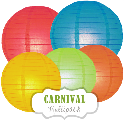 """Lampions-Set """"Carnival"""" by nillie"""