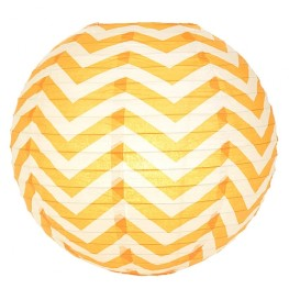 Lampions Orange, Chevron (Papierlampions Orange Chevron)