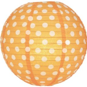 Lampions Orange, gepunktet (Papierlampions Orange Polka Dots)