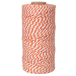 Bakers Twine Orange/Weiß, 100m