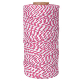 Bakers Twine Pink/Weiß, 100m