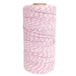 Bakers Twine Rosa/Weiß, 100m