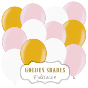 Luftballon-Set (Rosa, Gold u. Weiß)
