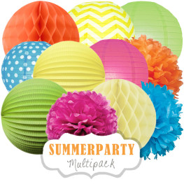 Buntes Party-Deko-Set (Summerparty)