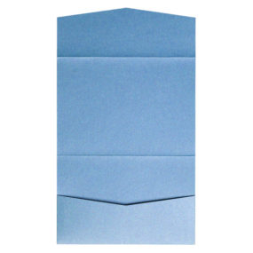 nillie Pocketfolds 13x18 cm, Azurblau (Metallic)