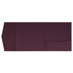 nillie Pocketfolds 15x15 cm, Aubergine (Metallic)