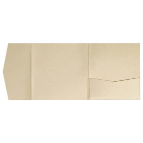 nillie Pocketfolds 15x15 cm, Beige (Metallic)
