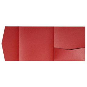 nillie Pocketfolds 15x15 cm, Rot (Metallic)