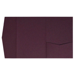 nillie Pocketfolds (Side 13x18), Aubergine-Metallic