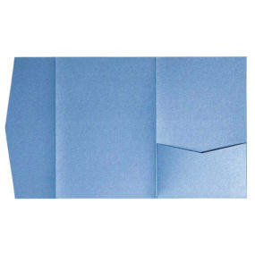 nillie Pocketfolds (Side 13x18), Azurblau-Metallic