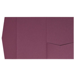 nillie Pocketfolds (Side 13x18), Burgund (Weinrot)
