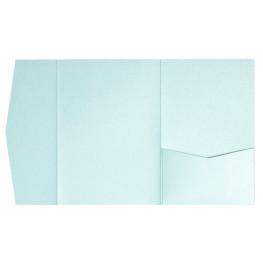 nillie Pocketfolds (Side 13x18), Eisblau-Metallic