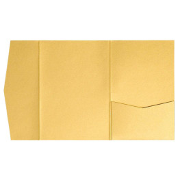 nillie Pocketfolds (Side 13x18), Gold-Metallic