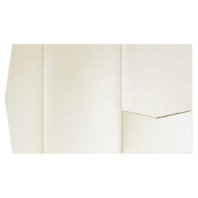 nillie Pocketfolds (Side 13x18), Elfenbein-Metallic
